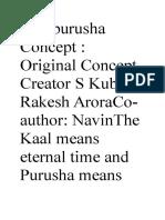 Kalapurusha Concept