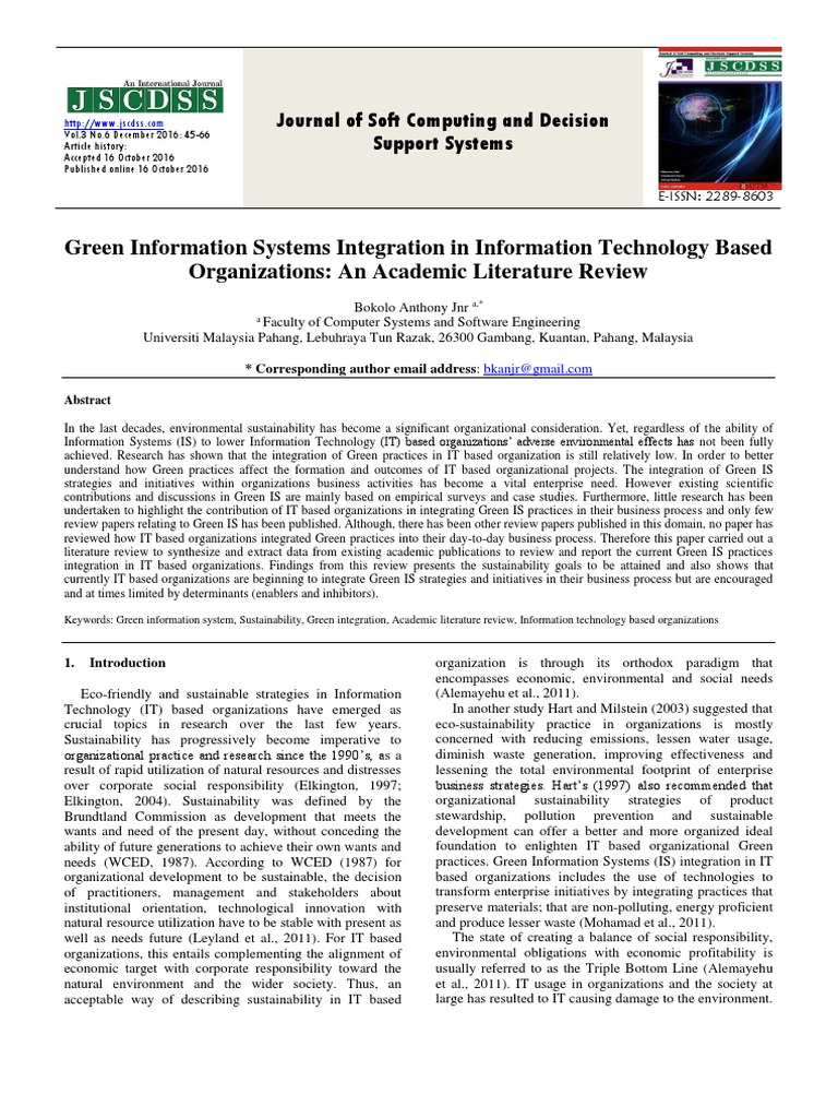 literature review on information technology