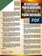 Intercessory Prayer Guidelines Towards