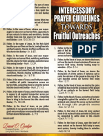 Intercessory Prayer Guidelines Towards