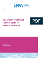 AWWA Adsorbent Treatment Technologies for Arsenic Removal