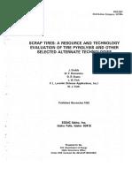 Pyrolysis of tires