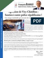 Déclaration François Asensi - Viry Chatillon