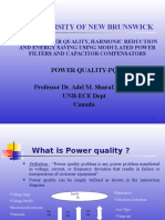 Power Quality Maximisation