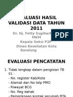 Evaluasi Hasil Validasi Data Tahun 2011