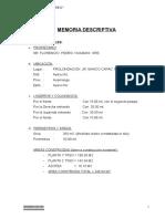 Memo.descriptiva Pedro Huamani