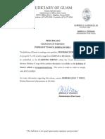 Notice of Creation of Position PCIV (4 GCA § 6303.1)