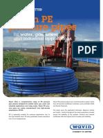 Wavin PE Pressure Pipes Data Sheet