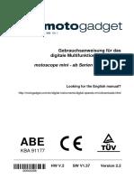 Motogadget Mini Scope Msm Manual de 2.2