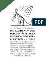 Liebenfels Joerg Lanz Von - Theozoologie (180 S., Text)