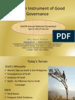 SALN an Instrument of Good Governance