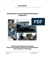 Assessment of Faecal Sludge Rheoric Properties