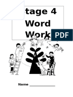 Stage 4 Word Work