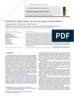 Estimation of Vehicle Sideslip, Tire Force and Wheel Cornering Stiffness