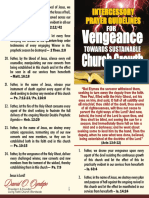 Intercessory Prayer Guidelines for Vengeance Towards Sustainable Church Growth