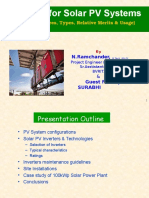 Solar PV Inverters, Fundamentals, Selection and Applications