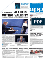 Asbury Park Press front page Thursday, Oct. 20 2016