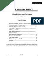 Class D Audio Amplifier Basics - DHT