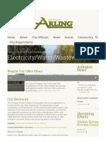 City of Arlington - Electric Rates