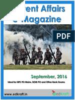 Current Affairs e Magazine September 2016 EdKraft.in Exampundit.in Locked