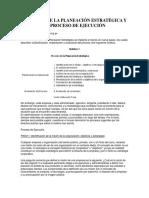 Planeación Estratégica y Proceso de Ejecución