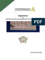 Regimento das Bibliotecas Escolares do Agrupamento de Escolas de Souselo