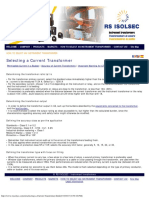 Selecting a Current Transformer