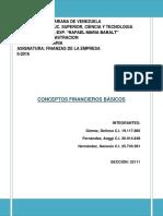 Conceptos basicos de Finanzas de la Empresa