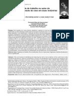 Riscos No Ambiente de Trabalho No Setor de Panificação - Um Estudo de Caso Em Duas Indústrias de Biscoitos
