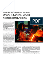 Nickel Based Metals Differences