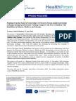 HealthProm Press Release EaP CSF