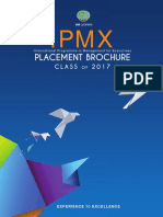 One Year MBA Programme at IIML IPMX 2017- Placement Brochure
