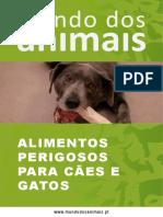 Alimentos Perigosos Para Cães e Gatos