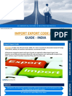 Import Export Code Guide