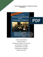 Técnicas de Litigación en El Juicio Oral y Público