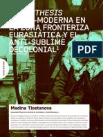 TLOSTANOVA, Madina - Aiestesis Transmoderna