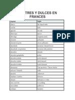 Postres y Dulces en Frances