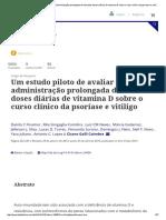 Um estudo piloto de avaliar o efeito da administração prolongada de elevadas doses diárias de vitamina D sobre o curso clínico da psoríase e vitiligo_ Dermato-Endocrinology_ Vol 5, N ° 1