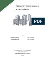 Evaporator Makalah