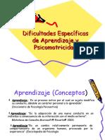Dificultades Específicas de Aprendizaje y Psicomotricidad(2)