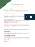 Les 40 Questions-pièges Du Recruteur