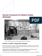 Erection Procedures for Medium Voltage Switchgear