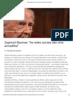 """Zygmunt Bauman_ """"As redes sociais são uma armadilha"""".pdf"""