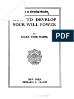 1920 Major How to Develop Your Will Power