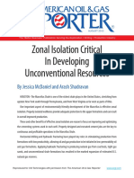 Zonal Isolation Critical in Developing Unconventional Resources
