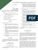 DL 46.99 Establece o Regime Jurídico de Acolhimento de Estranjeiros e Apátridas Por Razões Humanitárias
