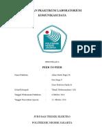 Percobaan 6 Peer to Peer Laboratorium Komunikasi Data