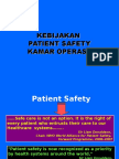 1. Kebijakan Patient Safety