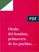 Otono Del Hombre Primavera de Los Pueblos PDF