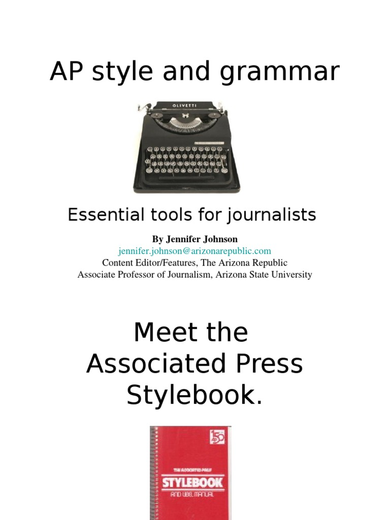 associated press stylebook pdf Additional information in matters which are not addressed in this handbook, the  associated press stylebook should be consulted the final authority, should ap.